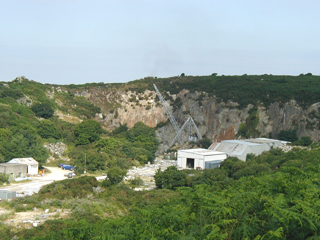 The historic De Lank granite quarry.