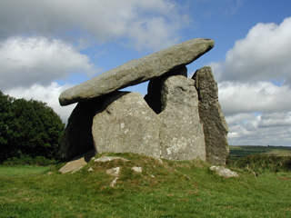 Trevethy Quoit - one of Bodmin Moor's many bronze-age monuments.